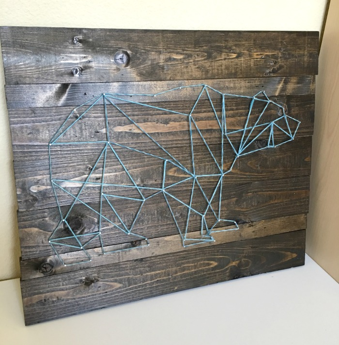 DIY string art complete