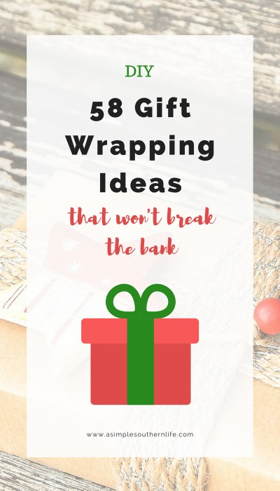 Wow! 58 budget-friendly gift wrapping ideas that are super easy and can involve the kids. You probably have most of the supplies on hand right now. These gift wrapping techniques can be used anytime of year too.