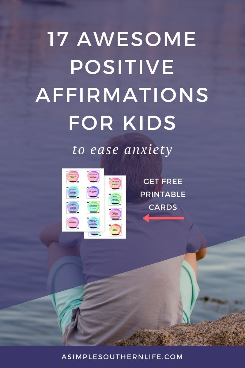 Most children struggle with self-doubt and fear when it comes to what other's may think about them. These positive affirmations for kids who start using negative self-talk will help them better understand how their attitude plays a major role in their mindset.